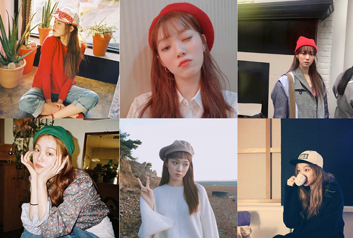 Lee Sung-Kyung looking fabulous in her stylish hats collection.