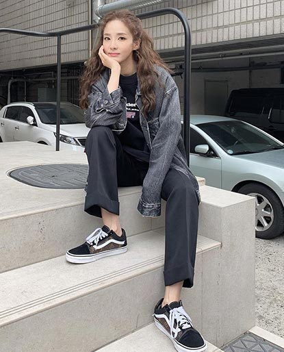 Sandara Park looking hip on her lifestyle sneakers.