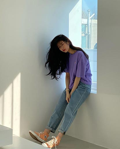 Suzy looking hip on their lifestyle sneakers