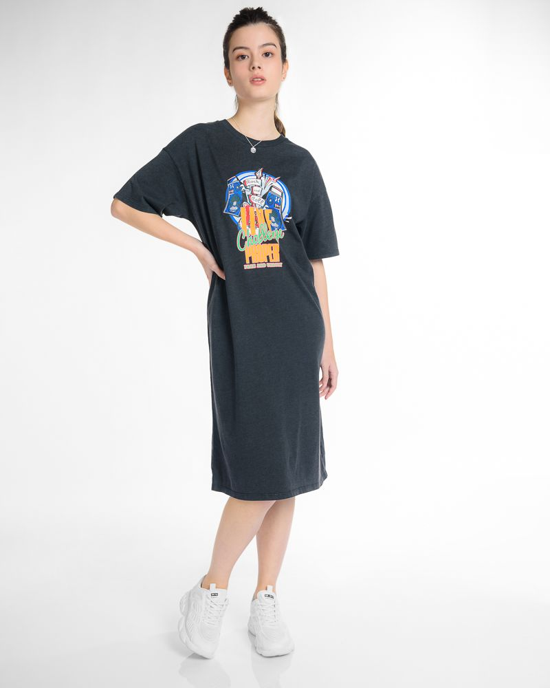 Short Sleeve Graphic T-shirt Dress