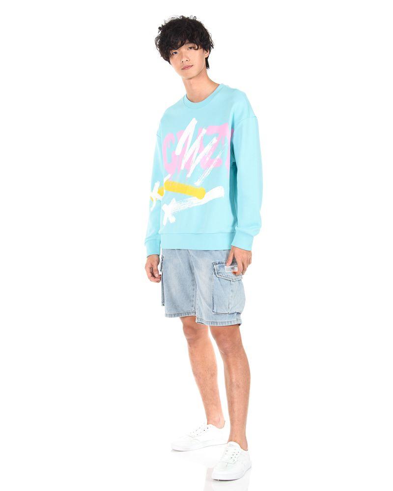 Teebox Oversized Graffiti Sweatshirt